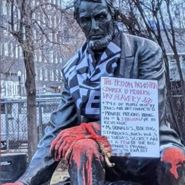BLM Leader Allegedly Smears Human Waste on Seated Lincoln Statue