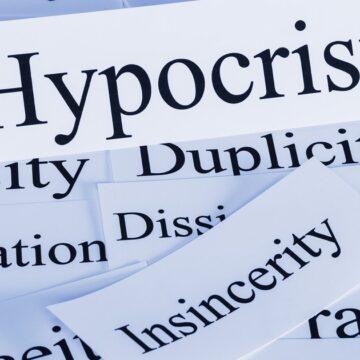 An Acute Case of Hypocrisy